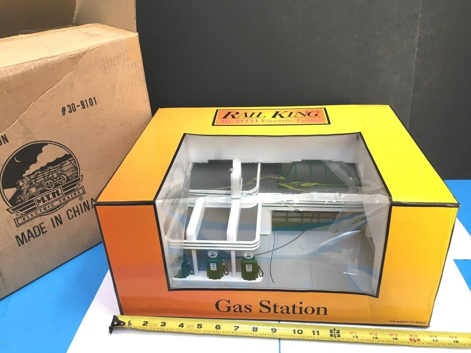 MTH SINCLAIR GAS STATION-MINT STATION-MINT STATION-MINT IN ORIG BOX WITH SHIPPING BOX  6865fd