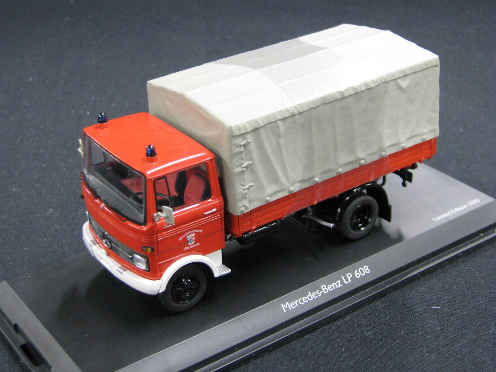 Schuco Mercedes-Benz LP608 1 43  Feuerwehr Oberhausen  (JS)