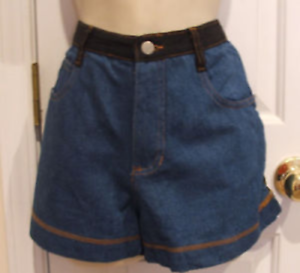 NEW-IN-PKG-frederick-039-s-of-hollywood-denim-fashion-short-shorts-made-in-USA-9-10