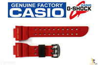 Casio G-shock Frogman Gwf-t1030a-1j Original Red Rubber Watch Band Strap