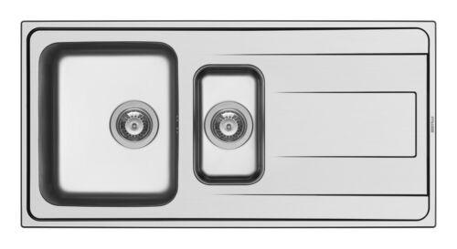 Pyramis Einbau Edelstahlspüle Edelstahl poliert Spüle Spülbecken Alea 100 x 50