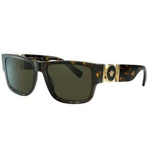 Sunglasses 108//82 Versace MEDUSA MEDAILLON VE 4369 Havana//Green