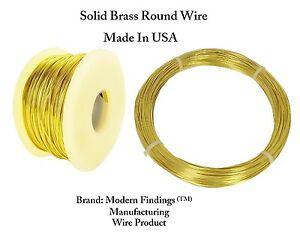 Half Hard Spool Solid Copper Round Wire 1//4 Lb Gauges 12 To 30
