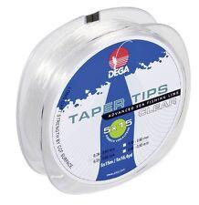 DEGA  TAPER TIPS clear Schlagschnur Vorfachmaterial 5 x 15m   0,33mm-0,60mm