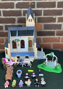Playmobil-Wedding-Church-4296-Geobra-Horse-Carriage-Gazebo-amp-Figures