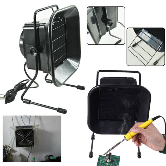 Black Solder Smoke Absorber Remover Fume Extractor Air Filter Fan For Soldering