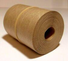 50 Foot Reinforced Paper Tape Roll Gummed Brown Kraft Shipping Packaging Sealing