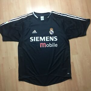 Homme-Football-shirt-Real-Madrid-Adidas-Away-2004-2005-SIEMENS-Taille-M