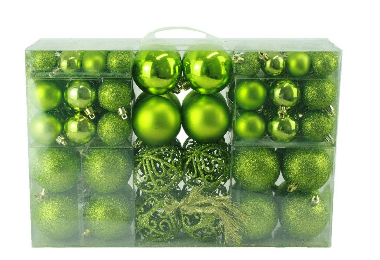 ADDOBBI DI NATALE PALLINE DECORAZIONI PER ALBERO DI NATALE NATALIZI verde