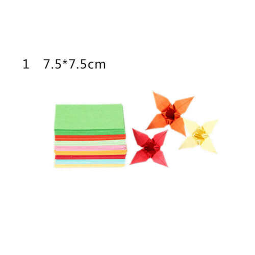 Double Sided Colored Paper Assorted Colors Folding Origami Square 50//100 Sheets