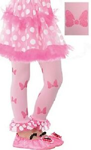 Disney Child Minnie Mouse Footless Tights Small