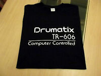 RETRO T SHIRT SYNTH DESIGN TR 606 DRUMATIX DRUM MACHINE S M L XL XXL