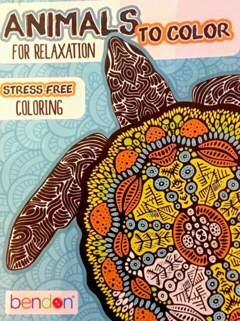Two Animals To Color For Relaxation Adult Coloring Books By Bendon X2 For  Sale Online EBay