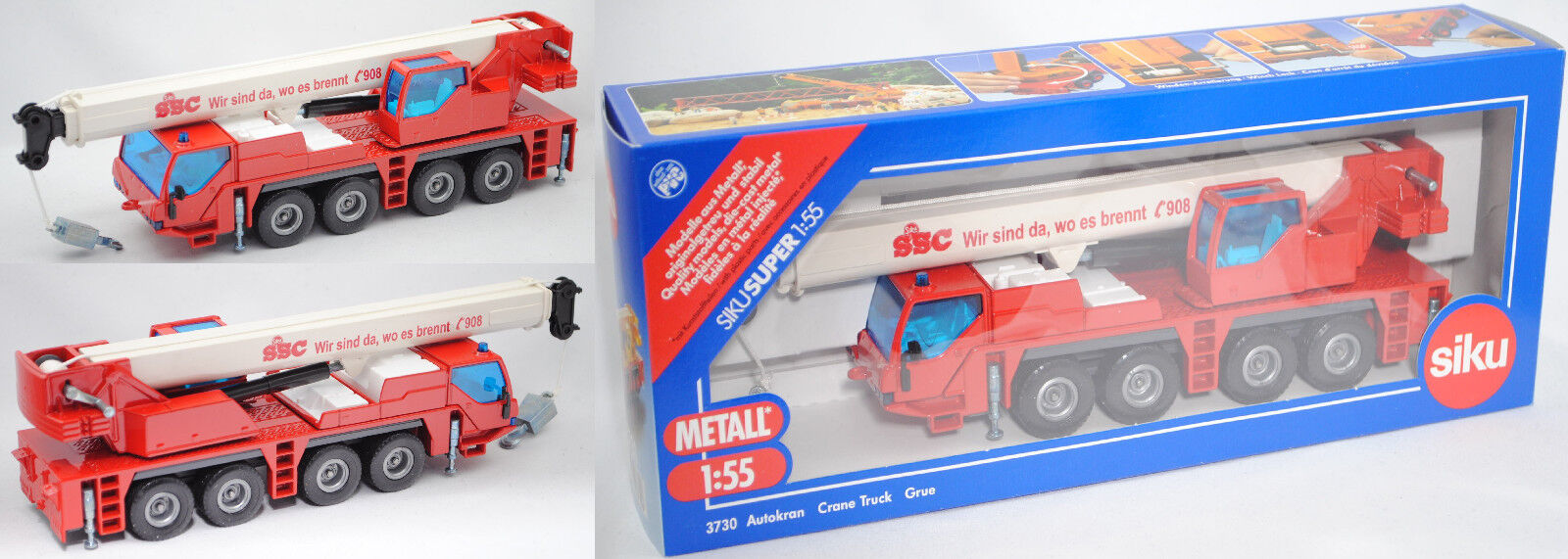 Siku súper 3730 00408 autokran Liebherr LTM 1060 2, SSC colección