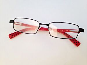 85cd569bd2 NIKE 5558 054 Black   Red Rectangular Rx Eyeglasses Frames 45-15 125 ...
