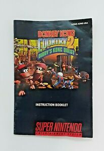 Donkey Kong Country 2 Diddy's Super Nintendo SNES Instruction Manual BOOKLET