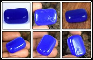 Free Give Away 57.60 Ct African Blue Sapphire Natural Cabochon Tumble Gemstone