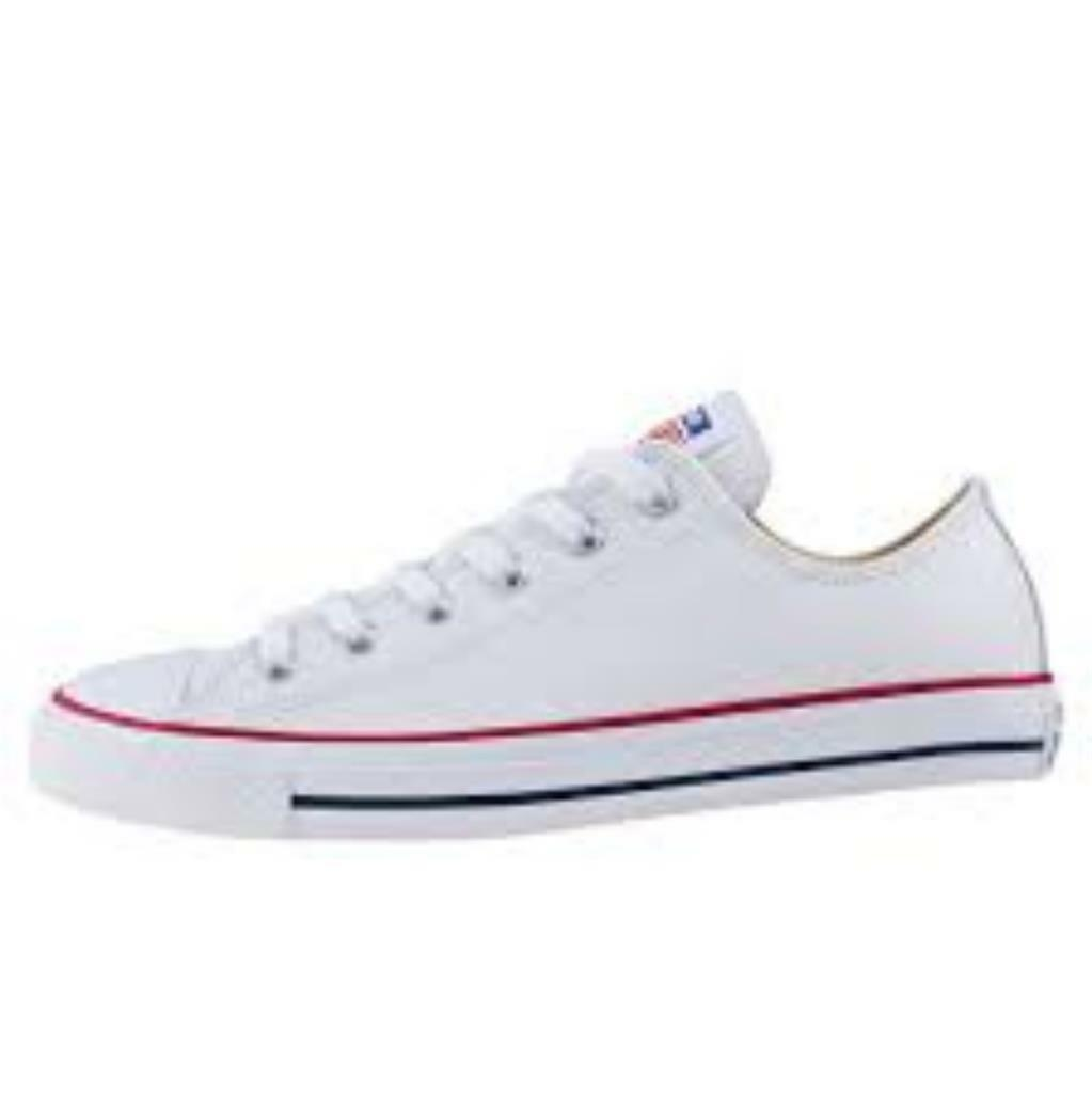 Converse mens chuck taylor Weiß ox lo trainer schuhe new leather 132173c 7.5 - 11