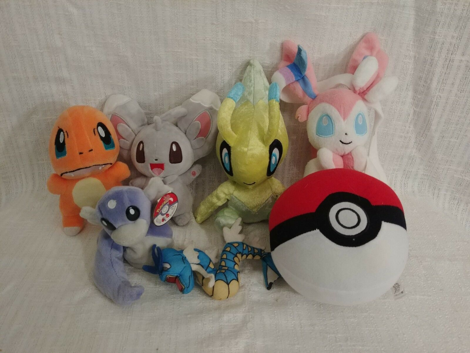Lot of 7 Pokemon Plush Toys