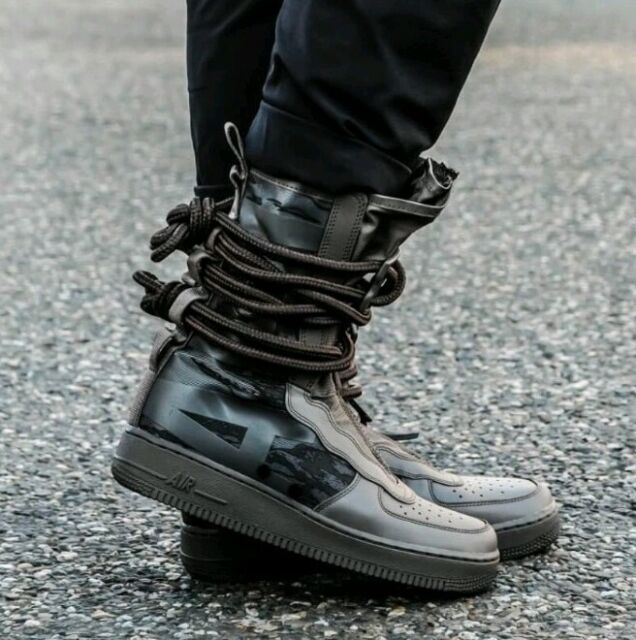 Nike SF Air Force 1 High special field Ridge rock military inspired AA1128 203