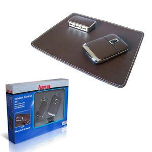Hama-3in1-Maus-USB-2-0-HUB-Mauspad-PC-Notebook-Travel-Set-NEU-OVP