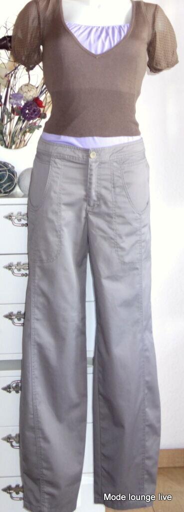 Noa Noa Pantalon Beige brown Broderie Neuf Pantalon S 36 Umeko Cloudburst