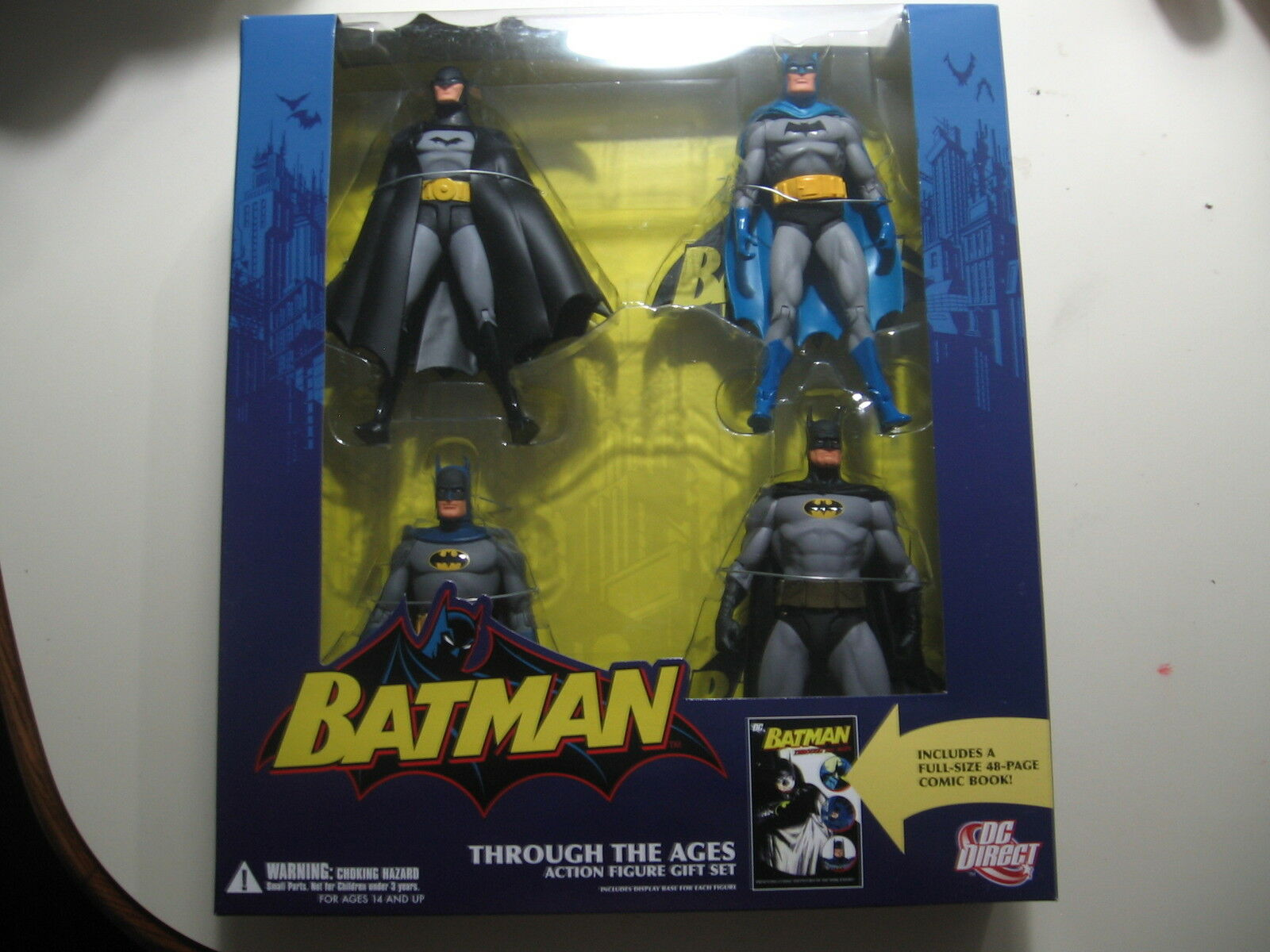 Batman Through the Ages action figure set w comic book, Brand New & Sealed