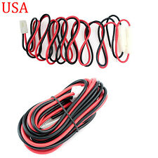 DC Power Cable T Shape for Radio Kenwood TM-2550E TM-2570A TM-D700A TM-G707A