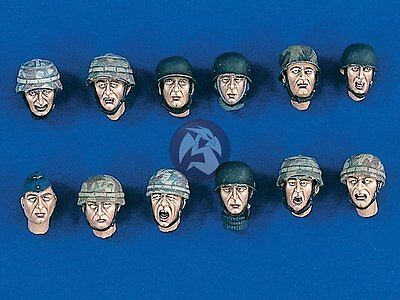 Verlinden 1/35 Fallschirmjager German Paratrooper Heads Set WWII (12 heads) 1800