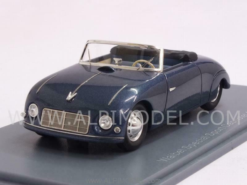 Waibel Porsche Special Sport Cabriolet 1948 Metallic azul 1 43 NEO 46191