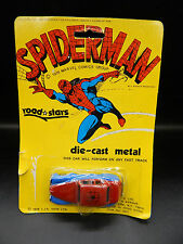 LJN Road Stars vintage SPIDERMAN car 1976 Marvel diecast toy MOC Spider-Man MIP