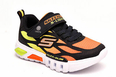 SKECHERS 90725L NVOR Blu Arancione Scarpe Sneaker Luci