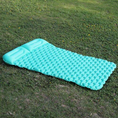 Ultralight Double Inflatable Camping Sleeping Mat Air Bed Mattress Pillow UK