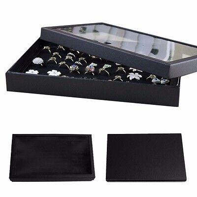 100 Slots Ring Storage Ear Pin Display Box Jewelry Organizer Holder Show Case