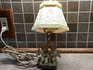 Vintage-Ceramic-Cherub-Lamp-with-Plastic-See-Thru-Cherub-Shade-12-Tall