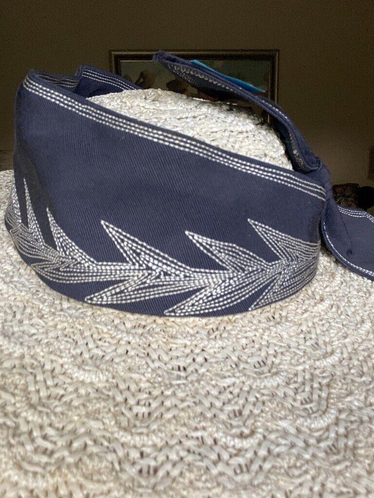 Vtg 1940s Wide Brim Straw Fascinator Hat Embroide… - image 6