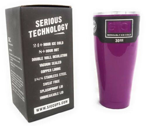SIC Cup  30 Oz Violet Powder Coated Insulated Tumbler//Cup