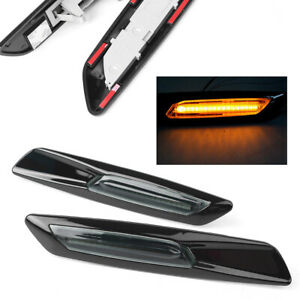 LED-Side-Indicator-Marker-Amber-Lights-Turn-Signals-For-BMW-E82-E88-E90-E91-E92