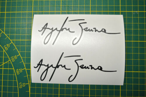 2 Stickers Signature Ayrton Senna Decal dim de 1 sticker 50x135mm