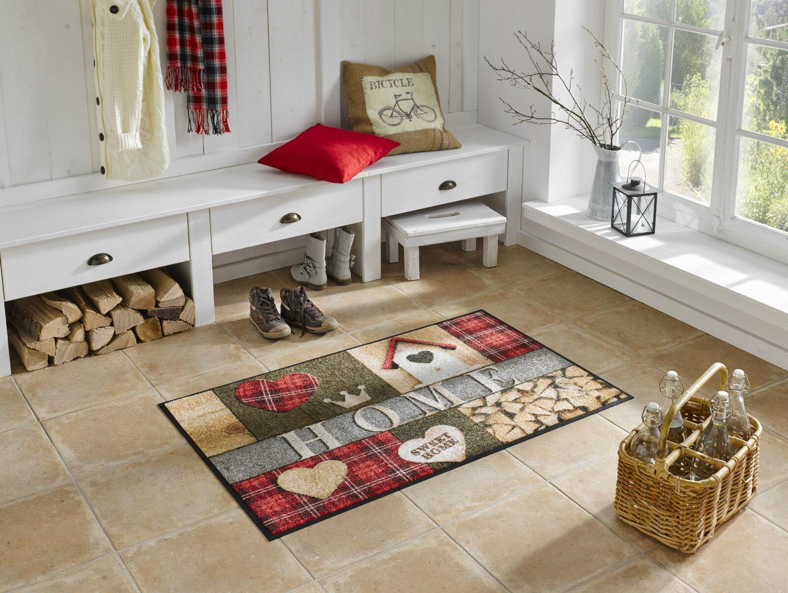 Wash+dry Teppich waschbar Fußmatte Türmatte Bodenmatte 75 x 120 cm Cottage Home