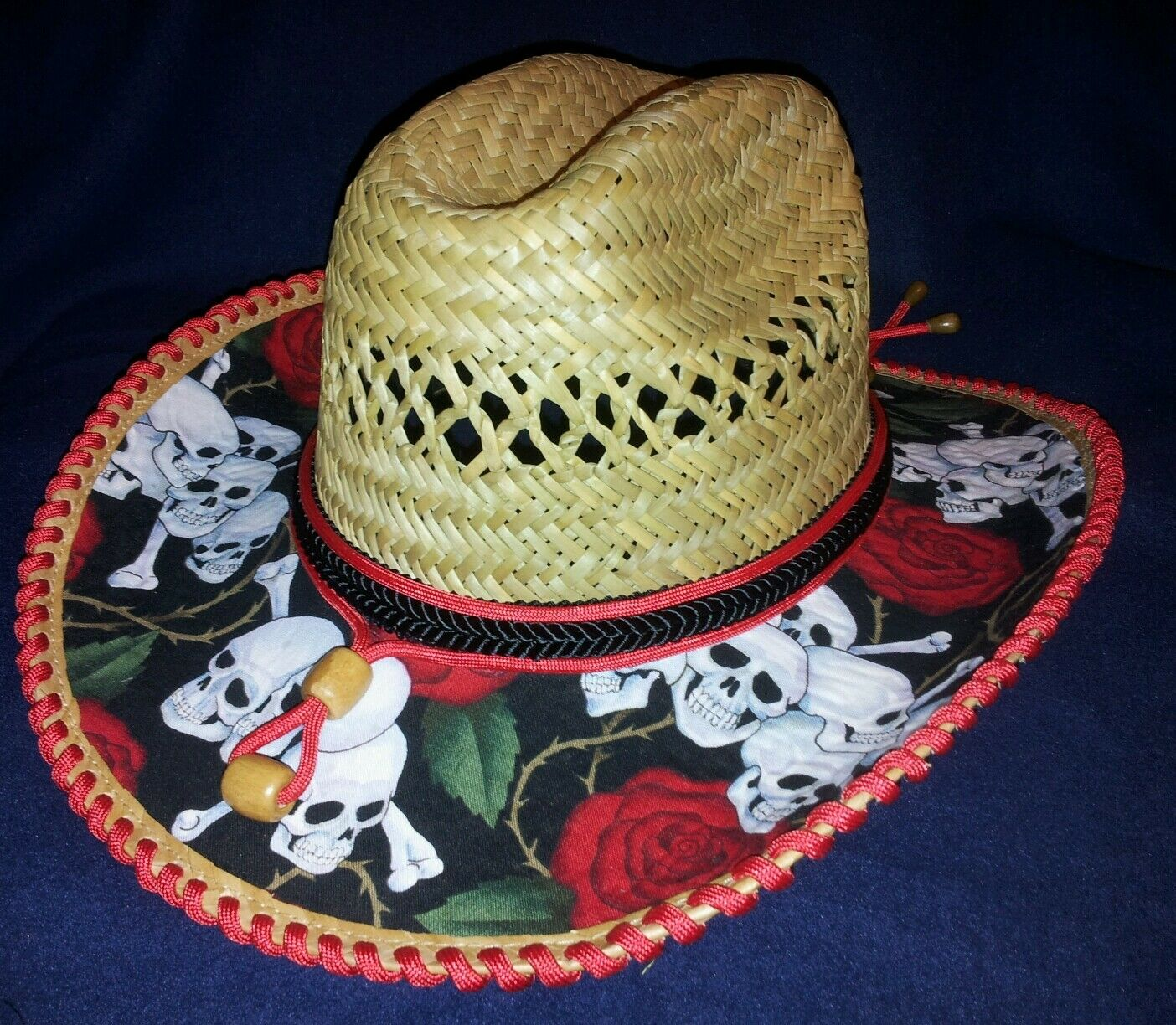 pinks & Skull medium handmade Cowgirl Hat from Kota's Kovers