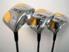 FAIRWAY WOOD 3 5 7 NEW YELLOW SQUARE SET GOLF CLUB METAL WOODS HIGH MOI CLUBS