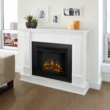 Electric Fireplace Real Flame Silverton Heater White