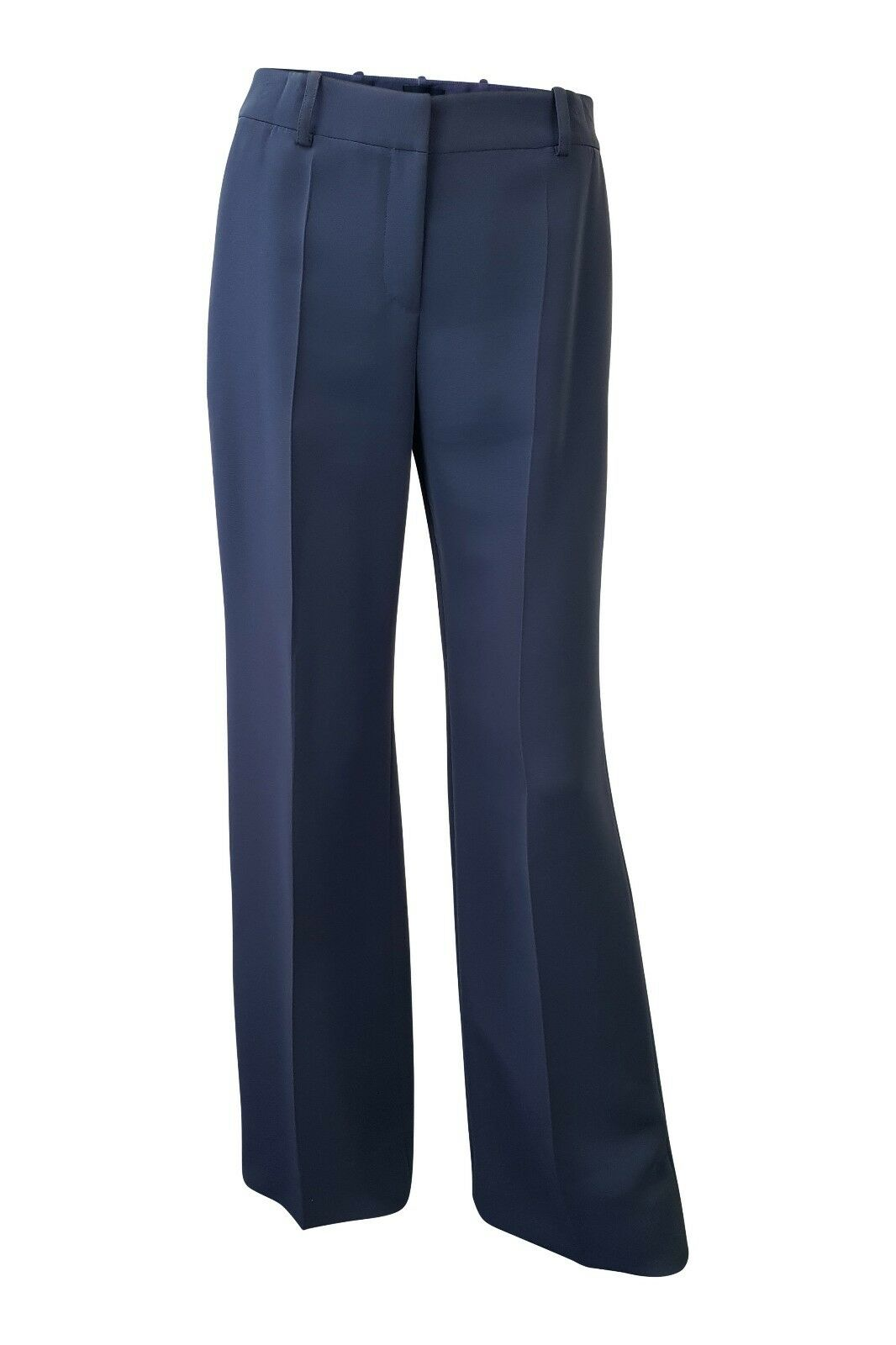 GIORGIO ARMANI TAILORED blueE GREY STRAIGHT LEG TROUSERS (40)
