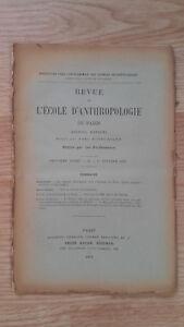 Recueil Mensual - Revista ESCUELA Antropología De París - 1899 - N º 2