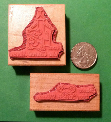 Rubber Stamp Set of Two From the Church Mouse