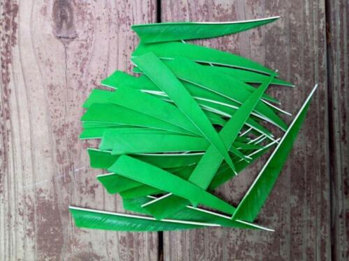 4 Inch Turkey Feather Fletching Archery Arrow Feathers Shield Right Wing 50pcs