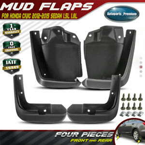 Set of 4 Front and Rear Mud Flaps Splash Guards for Honda Civic 2012-2015
