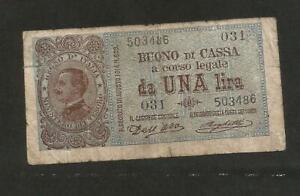 REGNO-d-039-ITALIA-BUONO-da-UNA-LIRA-Vittorio-Emanuele-III-Decr-02-09-1914-NC