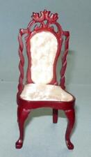 SIDE CHAIR WALNUT VINTAGE CM3827 DOLLHOUSE FURNITURE MINIATURES
